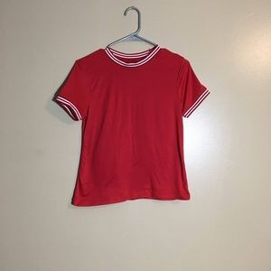 Red juniors t shirt